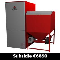 Klimosz Industrial Duo NG 150 Pelletketel met 2 pelletbranders van ieder 75kW