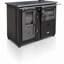 Termomont Temy plus 20 houtgestookte cooker met CV-aansluiting. Hout-gestookt fornuis met oven
