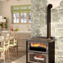 De Manincor D8 Maxi hout-gestookt fornuis met oven